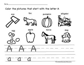 Alphabet Letter Worksheets
