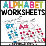 Alphabet Letter Worksheets | Distance Learning