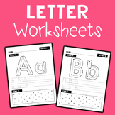 Alphabet Letter Worksheets - No Prep
