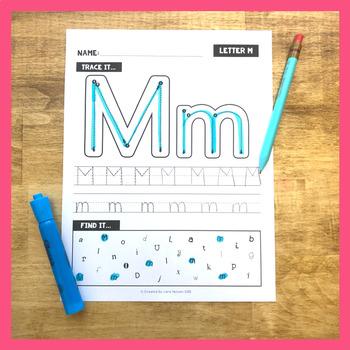 Alphabet Letter Worksheets - No Prep