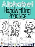 Alphabet Handwriting Practice Sheets  {Upper & Lower Case Handwriting}