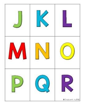 Alphabet Letter Writing Center