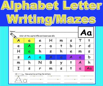 Alphabet Letter Writing/Maze