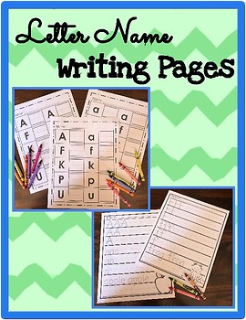 Alphabet Letter Writing Pages