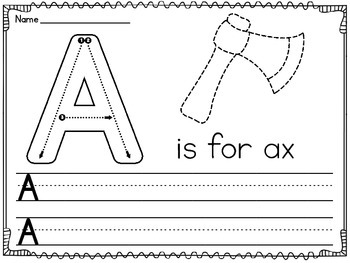 Alphabet Letters Writing Practice Worksheets