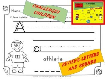 Child's Choice Writing Practice: ABC SPORTS - Advanced