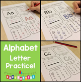 Alphabet Letter Writing Practice Set 2