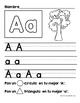 Alphabet Letter Writing Practice in Spanish (Practica de escribir el abecedario)