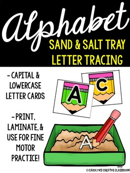 Alphabet Letter Writing - Salt and Sand Tray Cards