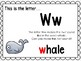 Alphabet Letter Ww Interactive Power Point. Kindergarten