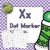 Alphabet Letter X Dot Marker Center