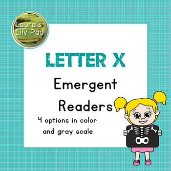 Alphabet Letter X Emergent Readers Set
