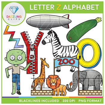 Alphabet Letter Z Clip Art - Beginning Sounds