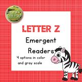 Alphabet Letter Z Emergent Readers Set