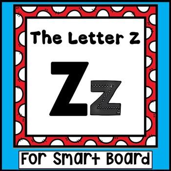 Alphabet -- Letter Z SMARTboard Activities (Smart Board)