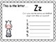 Alphabet Letter Zz Interactive Power Point. Kindergarten