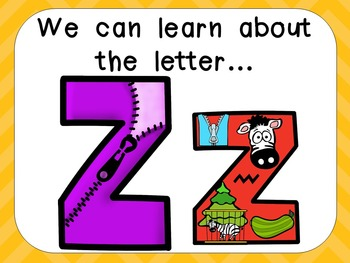 Alphabet Letter Zz PowerPoint Presentation- Letter ID, Sounds, and Handwriting