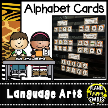 Alphabet Letter and Beginning Sound Picture Matching  ~ Jungle/Safari Theme