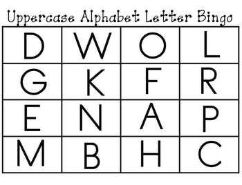 Alphabet Letter and Letter Sounds Bingo Cards