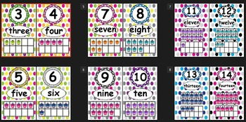 Alphabet Letter and Number Posters- Polka-Dot Pattern