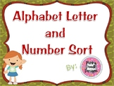 Alphabet Letter and Number Sorting Activity