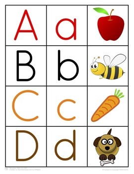 Alphabet Letter and Picture Match Activity