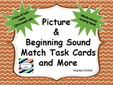 Alphabet Letter and Picture Match Task Cards