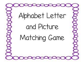 Alphabet Letter and Picture Matching