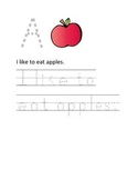 Alphabet Letter and Sentence Tracing