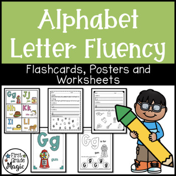 Letter Recognition and Sound Fluency Worksheets and Posters