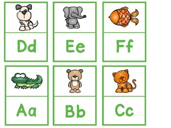 Alphabet Letter and Sound Matching Puzzles (Animal Theme) and Numbers 1-10