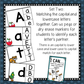Alphabet Letter & Initial Sound Matching and Clip Activities