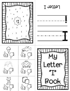 "Alphabet Letter ""i""! (12 Letter Recognition/Sound Activites) for the Letter i."