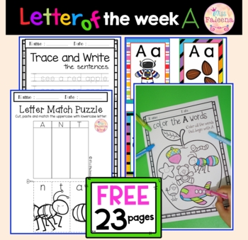 Free Alphabet Letter of the Week A