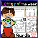 Alphabet Letter of the Week A to Z The Bundle