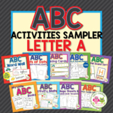Alphabet Activities for Preschool and Pre-K:  Letter A Sampler