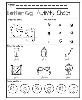 Alphabet Letter of the Week G
