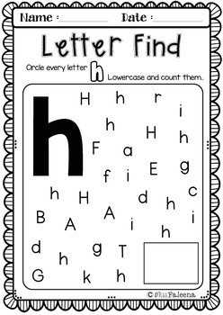 Alphabet Letter of the Week H