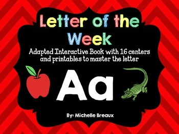 Alphabet Letter of the Week--Letter A Freebie; Adapted boo