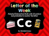 Alphabet Letter of the Week--Letter C Adapted book & More {Pre K, K, Autism}