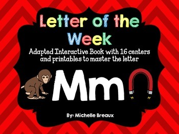 Alphabet Letter of the Week--Letter M Adapted book & More
