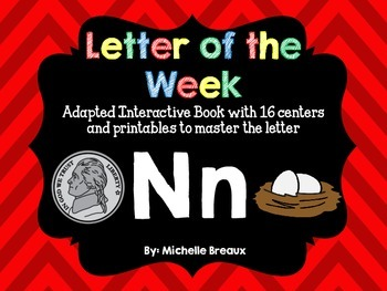 Alphabet Letter of the Week--Letter N Adapted book & More {Pre K, K, 1, Autism}