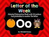 Alphabet Letter of the Week--Letter O Adapted book & More {Pre K, K, 1, Autism}