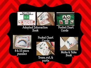 Alphabet Letter of the Week--Letter Q Adapted book & More {Pre K, K, 1, Autism}