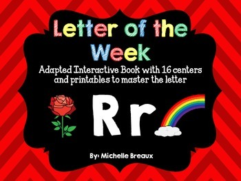 Alphabet Letter of the Week--Letter R Adapted book & More {Pre K, K, 1, Autism}