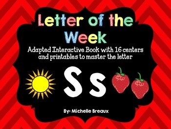 Alphabet Letter of the Week--Letter S Adapted book & More {Pre K, K, 1, Autism}