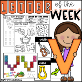 Alphabet Letter of the Week-Letter V