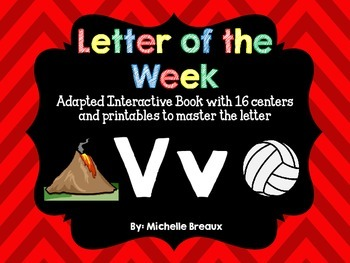 Alphabet Letter of the Week--Letter V Adapted book & More {Pre K, K, 1, Autism}