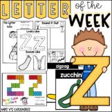 Alphabet Letter of the Week-Letter Z