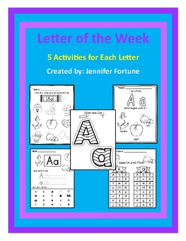 Alphabet Letter of the Week Practice Pages